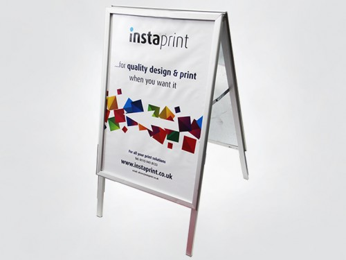 A board a frame outdoor signs nottingham instaprint