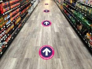 social distancing floor markers